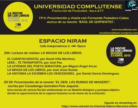 Cartel Noche de Los Libros 2013