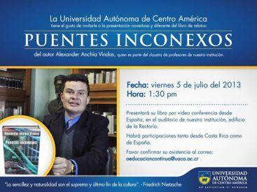 Invitación Universidad Autónoma de Centro América